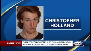 Police: 3 Concord officers hurt in altercation with man