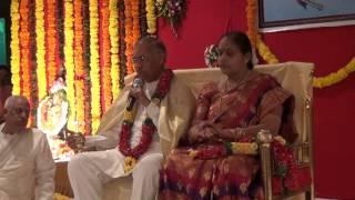 Felicitation of Master Parvathi Kumar by Sadguru Sri. Sivananda Murthy garu