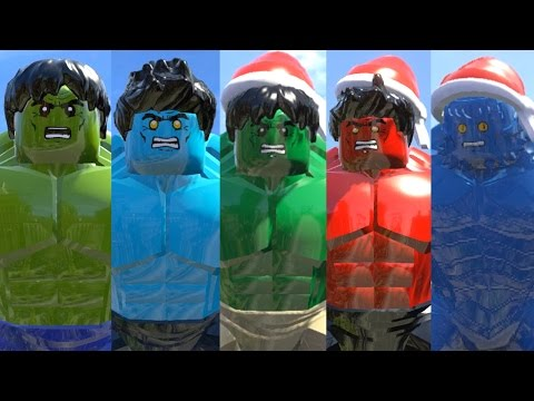 LEGO Transformations( Hulk + Blue Hulk + GREEN Hulk + RED Hulk + A-BOMB Transformations)