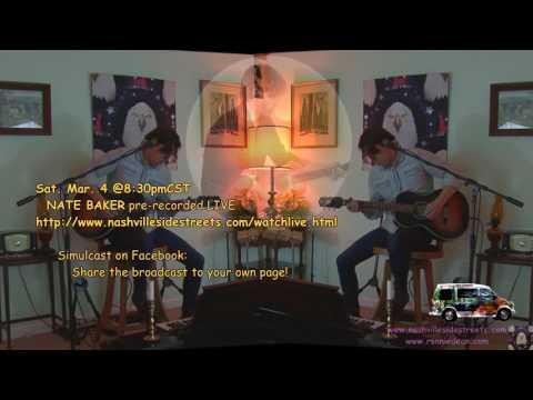 Live HDTV Video Studio Inhouse Concerts: NATE BAKER Mar. 4th!