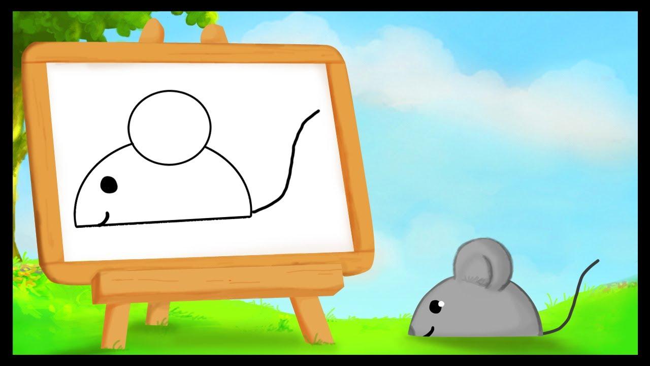 Comment dessiner une souris youtube - Dessiner une souris ...