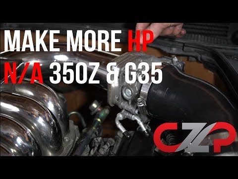 MAKE MORE POWER - 350Z / G35 CZP BIG 75mm Throttle Body Install