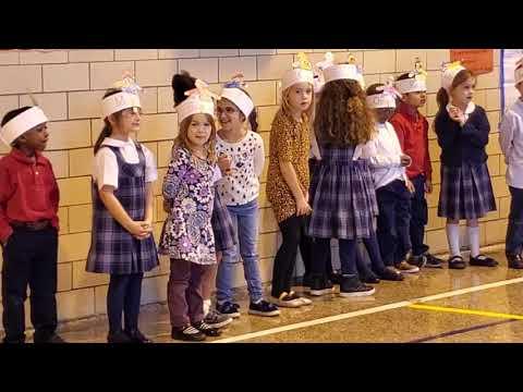 Corpus Christi Academy Kindergarten Thanksgiving Program 11.22.2019