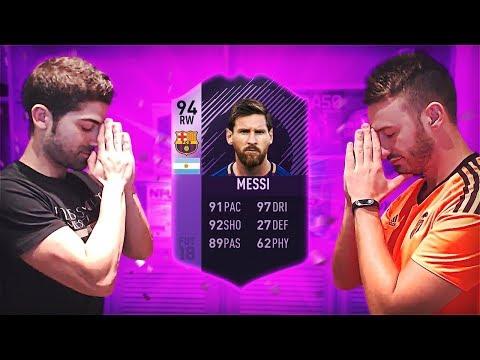 100€ BUSCANDO A MESSI HÉROE EN DIRECTO | FIFA 18
