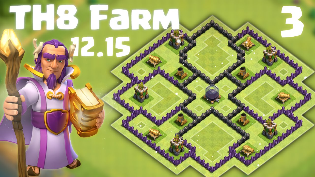 Clash of clans 2015 dec click for details base town hall 8 wtf base