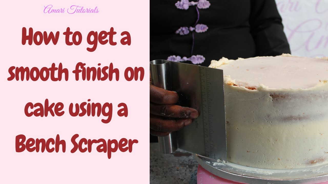 How To Get Smooth Cake Sides Using A Bench Scraper Decoration Tutorial