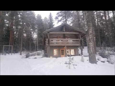 Жизнь в Финляндии зимой Коттедж в Вуокатти Лапландия Новый год Горнолыжный курорт