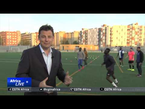 Spanish football team made up mostly of African migrants
