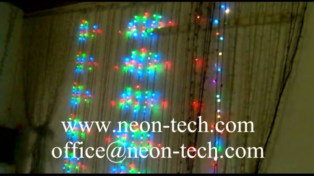 Led Star Curtain Light Christmas Star Curtain Lights