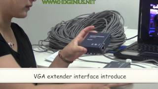 HDgenius Video VGA Extender 200m Over UTP( CAT5E/6 ) Cable With RJ45