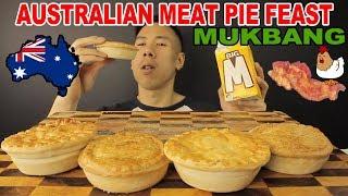 [MUKBANG] AUSTRALIAN MEAT PIE-BACON AND EGG+CHICKEN PIE-SUPER CRUNCHY PIES