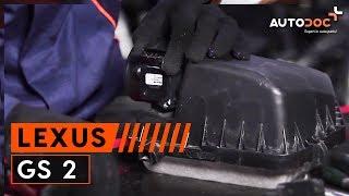 Hur byter man Luftmängdmätare LEXUS GS (UZS161, JZS160) - online gratis video