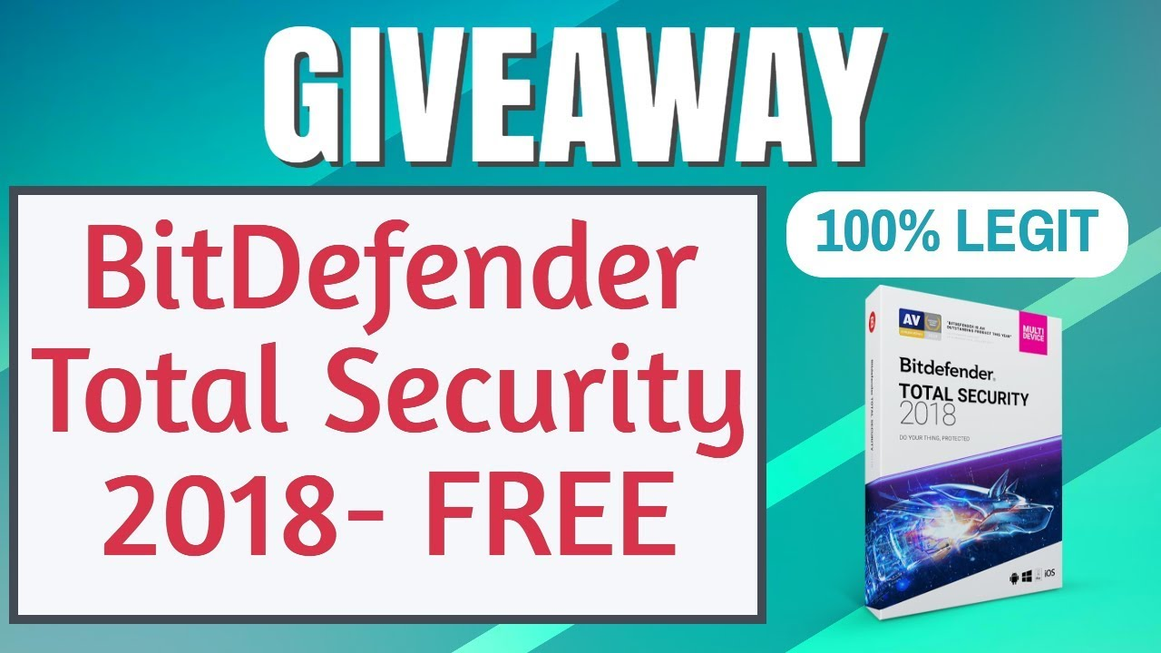 serial bitdefender total security 2018
