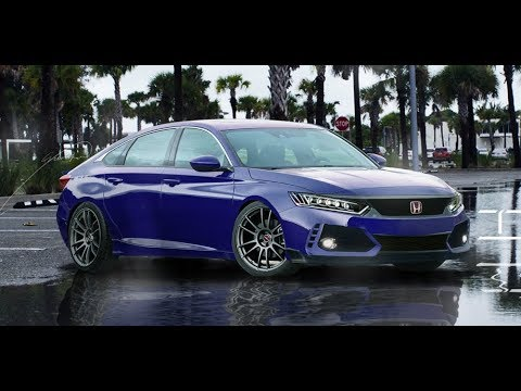 New Honda Accord >> 2018 Honda Accord Sport // Stanced // Photoshop Timelapse #1 - YouTube