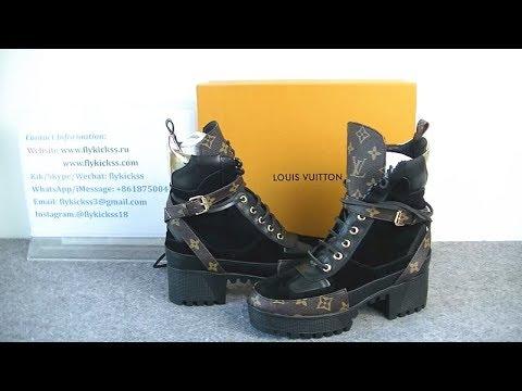 Lv Louis Vuitton Desert Boots Girl Women Shoes Boots Hd Review
