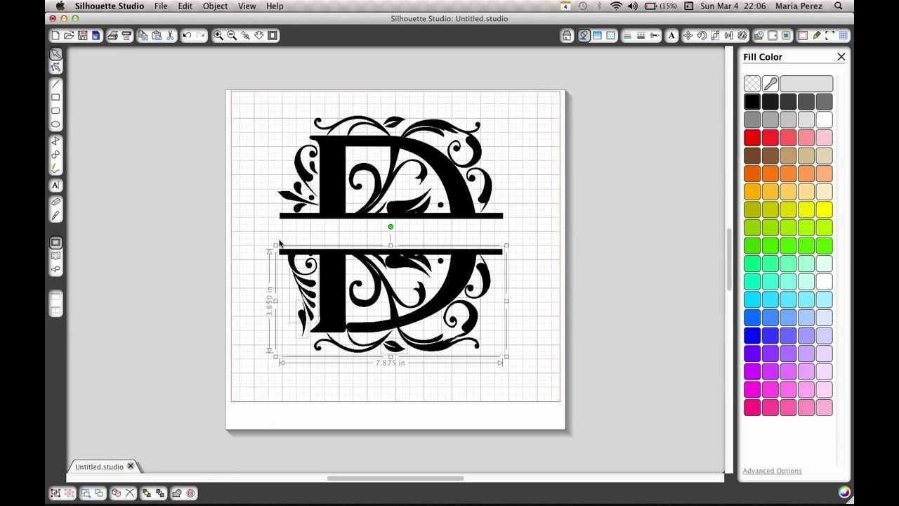 split letter tutorial for silhouette cameo