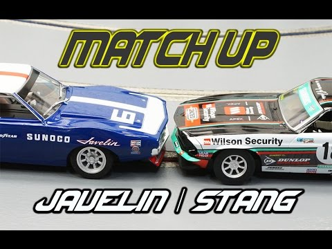 Scalextric Javelin vs. Mustang