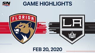 NHL Highlights | Panthers vs. Kings - Feb. 20, 2020