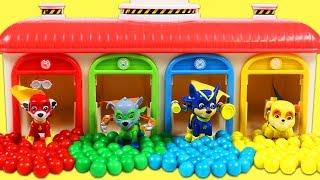 PAW PATROL Pups Change Uniforms in Tayo Car Garage Playset