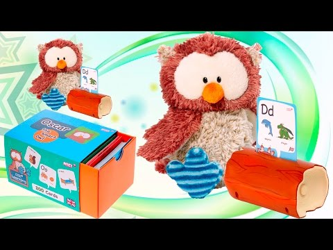 Интерактивная игрушка СОВА учим АЛФАВИТ русские и английские слова обучающее видео для детей