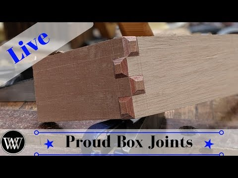 How to Cut a Box Joint with just hand tools Live
