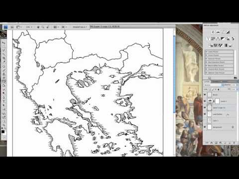 Designing a map of Greece