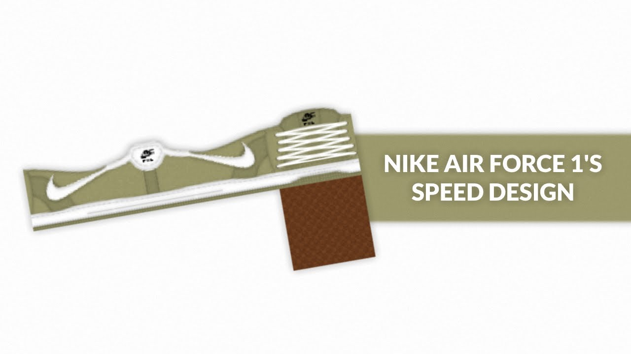 Roblox Speed Design Nike Air Force 1 S Youtube