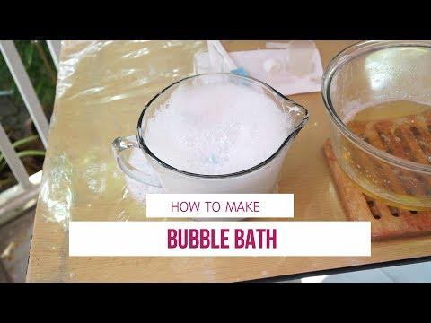 การทำ Bubble Bath สบู่เหลวอาบน้ำฟองตูม