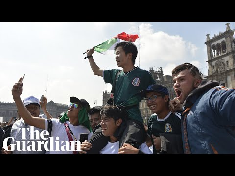 South Korean fans mobbed by Mexicans after Germany