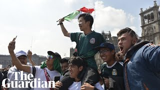South Koreans mobbed by ecstatic Mexico fans after Germany's World Cup exit