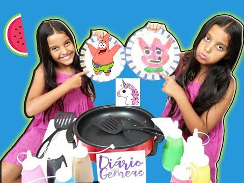 DESAFIO ARTE NA PANQUECA !! ( Pancake Art Challenge )