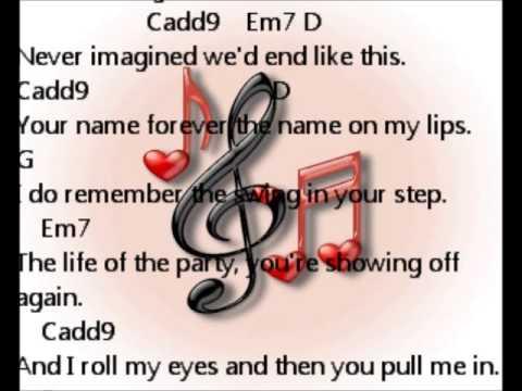last kiss taylor swift chords accordi - YouTube