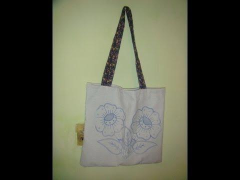 Como hacer una bolsa con dos servilletas marimur 438 youtube - Bolsas para pintar ...