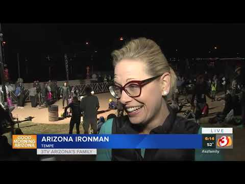 VIDEO: Senator-elect Kyrsten Sinema participates in Ironman Arizona