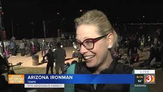 VIDEO: Senator-elect Kyrsten Sinema participates in Ironman Arizona