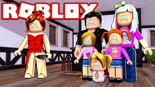 Happy Roblox Family   Survive The Red Dress Girl!