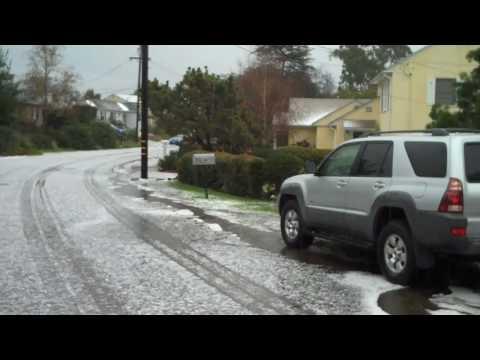 Hail Storm In San Diego (El Cajon, CA) on Friday, 1/22/2010