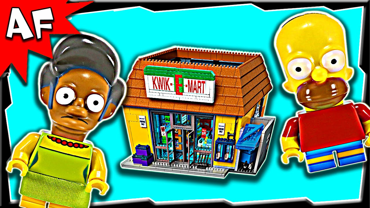Lego Simpsons Kwik E Mart 71016 Stop Motion Build Review Youtube