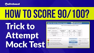 How Toppers Score 90 out of 100 | Oliveboard Mock Test | Online Classes | Trick To Attempt Mock Test screenshot 3