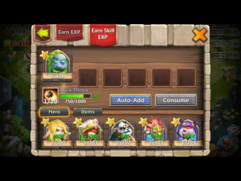 [Castle Clash]Consume All Heroes To Paladin And Hill Giant