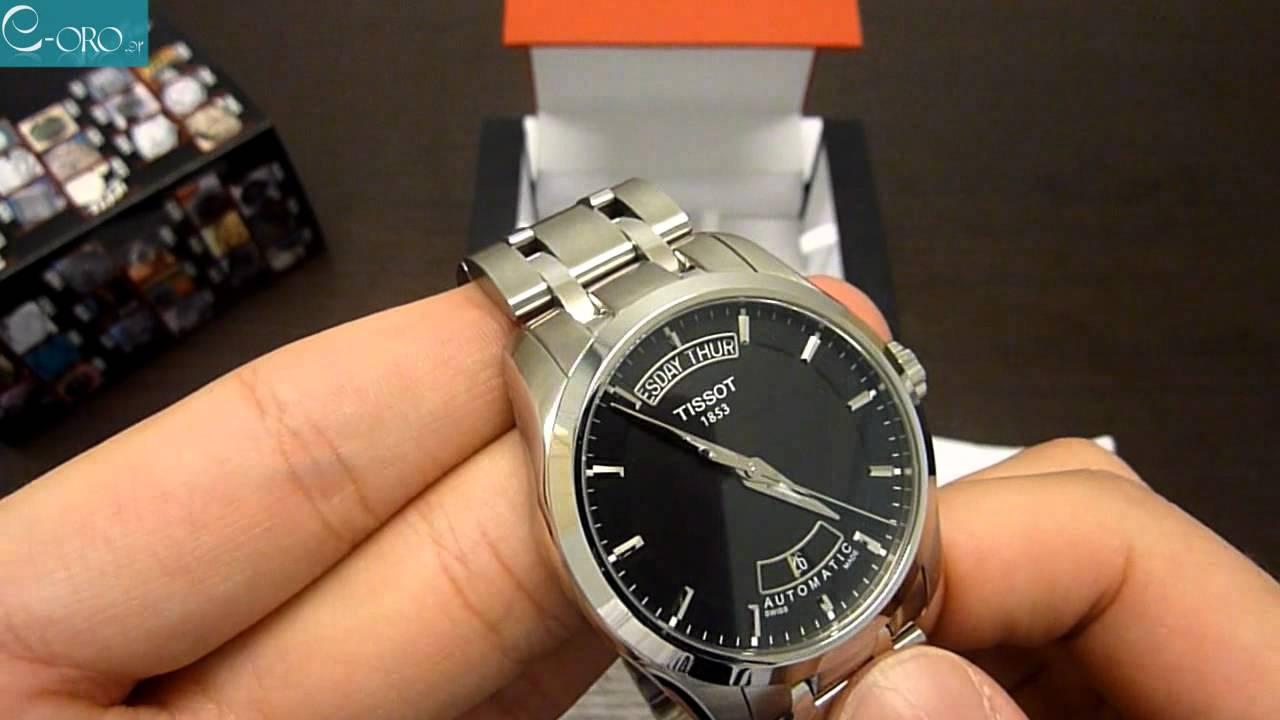 58b656d6c TISSOT T-Trend Couturier Automatic Mens Watch T0354071105100 - E-oro.gr -  YouTube