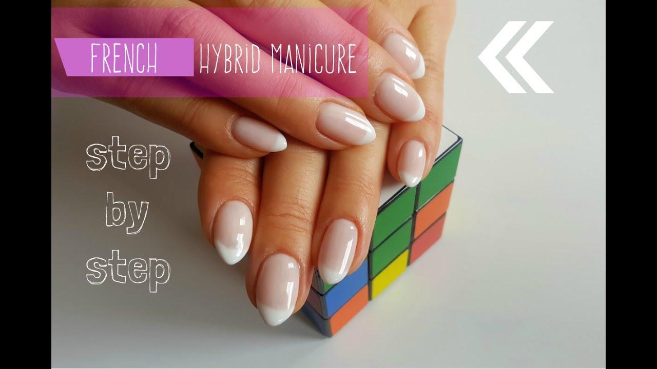 French Manicure Hybrydowy Krok Po Kroku Tutorial Hybrid Nails
