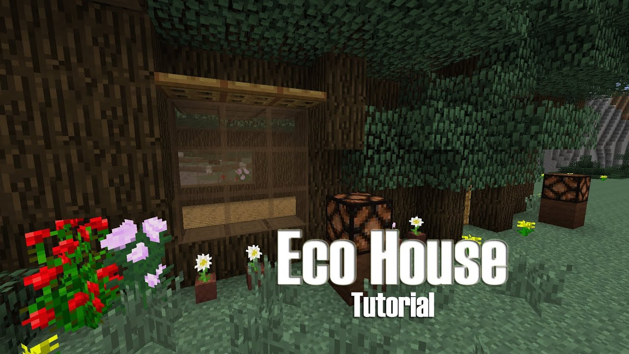 Minecraft Eco Friendly House Tutorial Treehouse Build