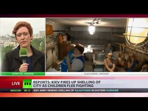 200 Children Evacuated from Slavyansk, E.Ukraine, escaping Kiev's shelling