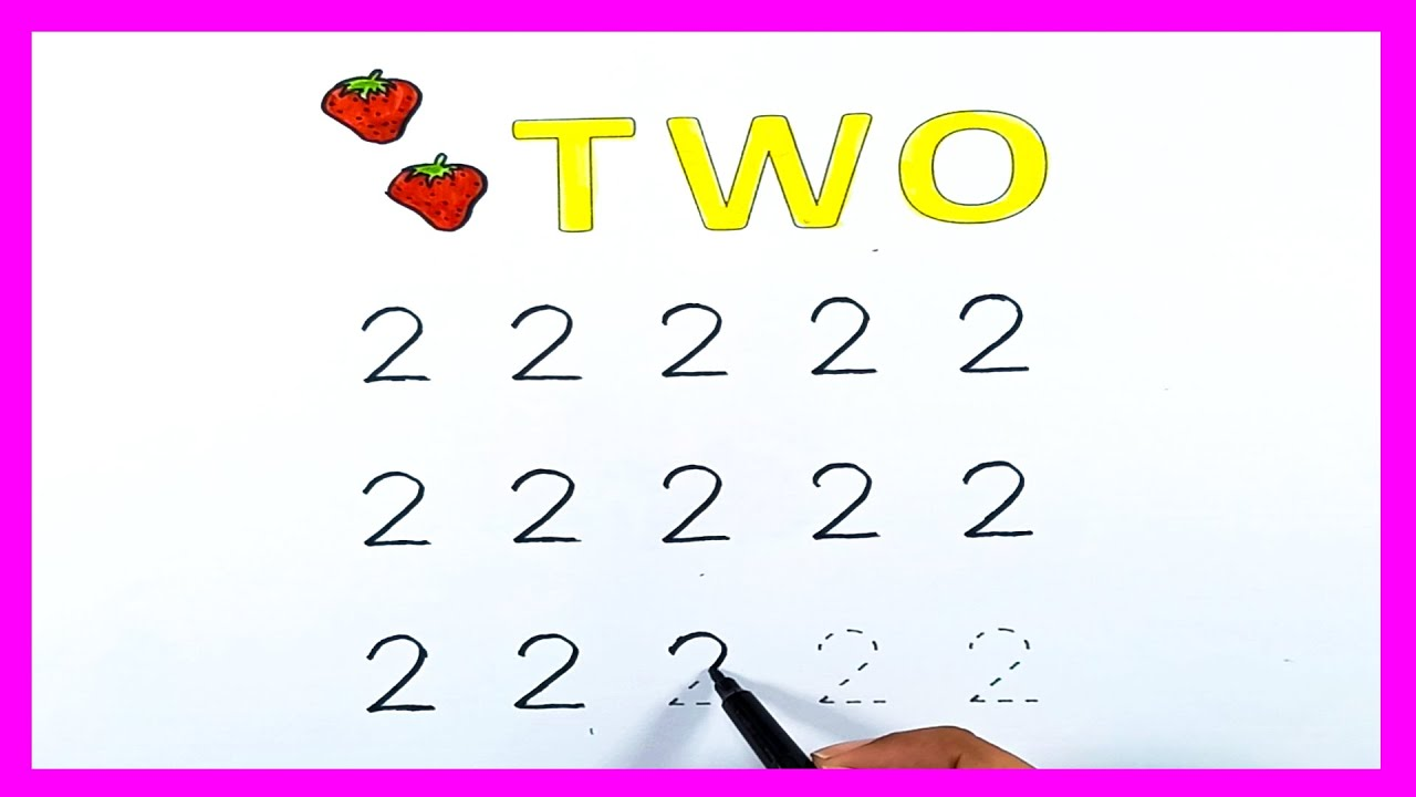 hight resolution of Tracing   How to write numbers   How to write 2   tracing numbers worksheets    Kids Writing Practice - YouTube