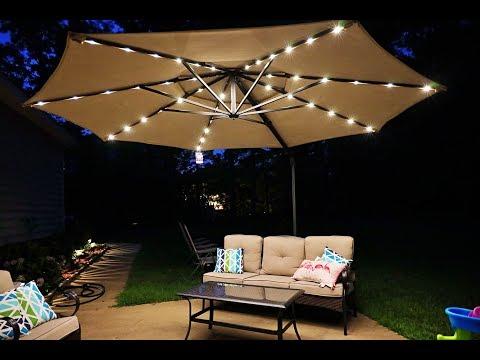 Simplyshade 11FT cantilever outdoor umbrella: Best patio umbrella period!!!