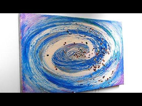 Acrylmalerei Spachteltechnik Abstrakt Youtube Acrylmalerei