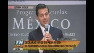 presidente de mxico visit el centro educativo benito jurez