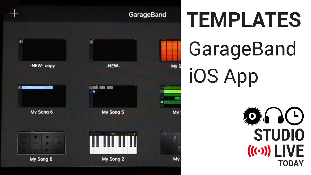 Using a Template for new projects in GarageBand App on iOS (iPhone ...
