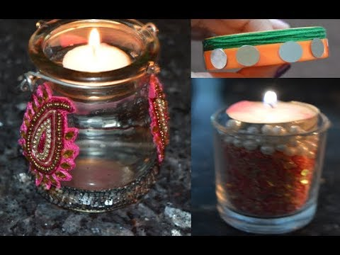 Diy diwali diya decoration diwali decoration ideas for Diya decoration youtube